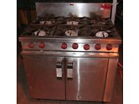 Masterchef 6 Burner Gas Cooker - Calor Gas