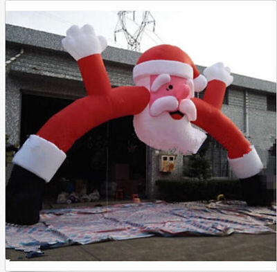 Most Popular Outdoor Giant Inflatable Christmas Arch with Santa Christmas 10m Ax