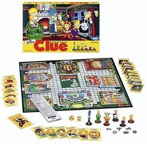 The Simpsons Clue Board Game 2nd New Reduced