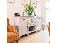 Stunning Arts & Crafts Vintage Antique Ornate Carved Sideboard Cupboard Dresser