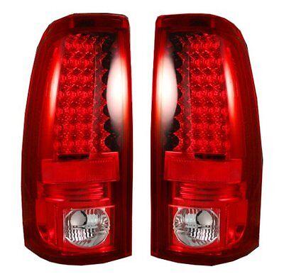 RECON CHEVY SILVERADO / GMC SIERRA RED LED TAIL LIGHTS 99-07 # 264173RD