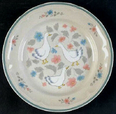 Action Industries Country Classics Geese 2 Salad Plates Stoneware Pottery Acj2