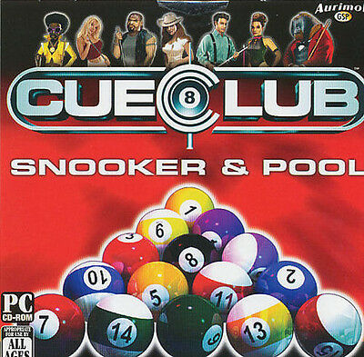 CUE CLUB Billiards Pool Snooker 8-ball Simulation PC Game XP/Vista/7/8 - NEW CD