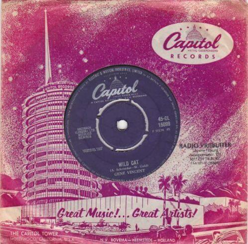 Gene Vincent - Wild cat + Right here on earth (Vinylsingle)