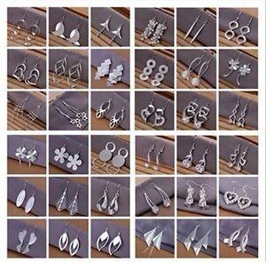 WHOLESALE-FASHION-JEWELRY-SOLID-Silver-WOMENS-925STERLING-SILVER-EARRING-GIFT