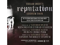 2 X Taylor Swift 'Reputation' Tour Tickets, Wembley Stadium Sat 23rd June 2018