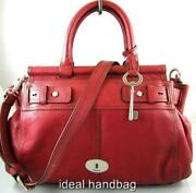 Fossil Red Handbag