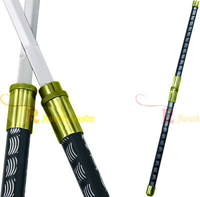 2 in 1 Gold Double Bladed Ninja Sword Staff Spear