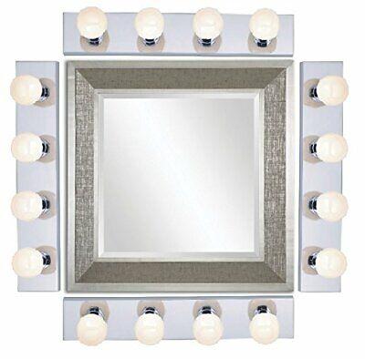4 Light Vanity Four - Nuvo SF77/193 Four Light Vanity Strip Polished Chrome, 24