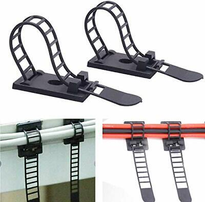 Adjustable Self-Adhesive Nylon Cable Tie mounts Cable Straps with Optional Screw