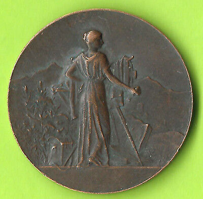France Besancon 1902 Photo Club Medal 37mm