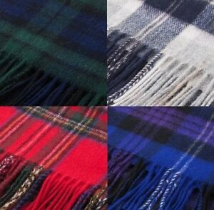 Edinburgh-100-Lambswool-Modern-Check-Tartan-Scarf-Available-in-many-colours