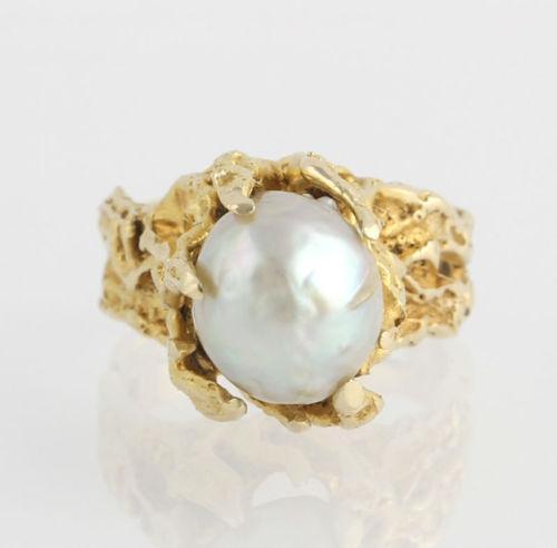 Baroque Pearl Ring Ebay