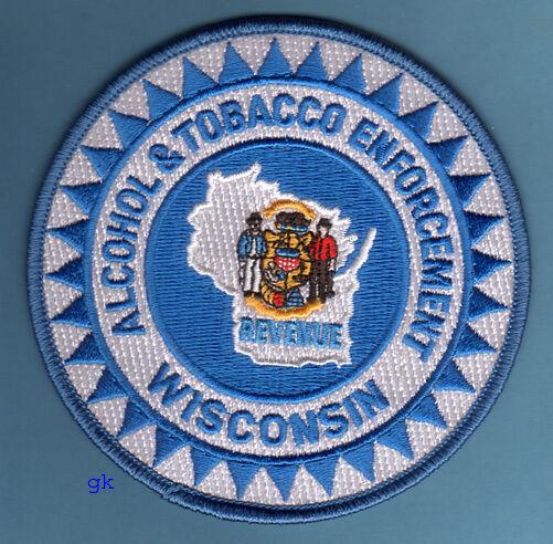 WISCONSIN ABC ALCOHOL TOBACCO ENFORCEMENT POLICE SHOULDER  PATCH