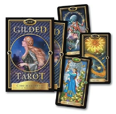 Gilded Tarot Set NEW Sealed 78 Color Cards Companion Book Ciro Marchetti Art