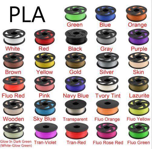 3D Priting Filament 3D Printer Filament 1.75mm PLA 1KG +/- 0