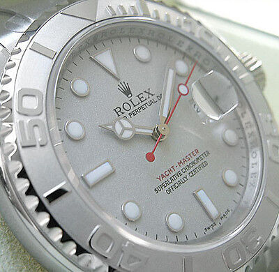 Rolex Yacht-Master 116622 Mens Stainless Steel & Platinum 40MM Platinum Dial