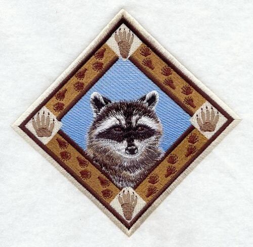 Embroidered Long-Sleeved T-Shirt - Raccoon Track Diamond D1500 Sizes S - XXL
