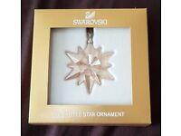 Genuine SWAROVSKI SCS Little Star Ornament Christmas Tree Snowflake - BRAND NEW