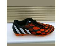 ADIDAS  PREDATOR ABSOLADO INSTINCT  FIRM GROUND  RED & BLACK  SIZE 9 UK  IMMACULATE PAID £100