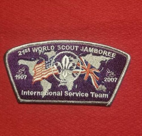 2007  International Service Team JSP USA Contingent Patch World Jamboree