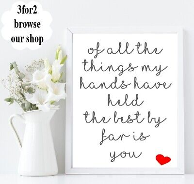 Wall Quote Print A4 Family Best by far is you Kids Happy Mum Home Gift  (Best Gifts For Mom 2019)