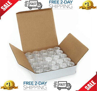 Small Plastic Containers Storage Acrylic Cosmetic With Lids For Makeup 50 pcs
