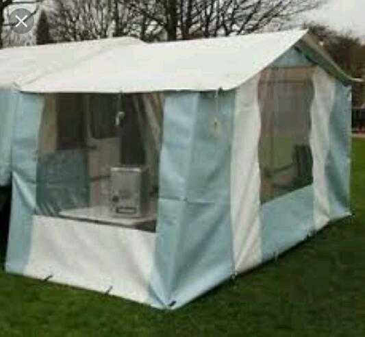 Dandy Trailer Tent AWNING In Blue & White
