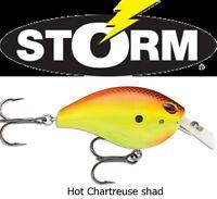 Novita' Crank Storm Arashi Rattling Square 6cm 18gr Col Hot Chart Sha Black Bass -  - ebay.it