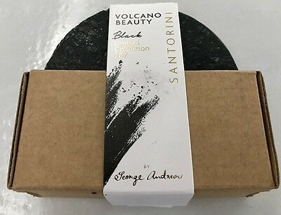 Greece Santorini  Olive Oil Soap With Volcanic Sand   Volcano Beauty  Black 2017