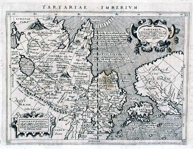 Antique map, Tartariae Imperium
