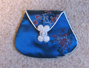 new embroidered silk change purse from china