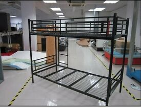 "Brand new Non splitable Metal Bunk Bed with ""Semi Orthopedic Mattress"" Order Now ""Express Delivery"""