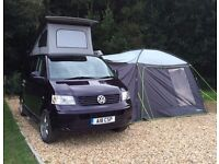 VW T5 Campervan 2009 . Converted 2013. Pop up roof . 4 berth. Immaculate condition. Alloy wheels