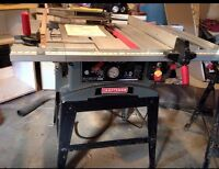 Table saw and tools