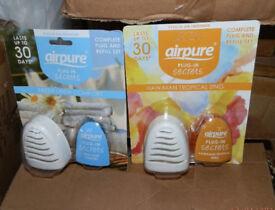 12 Airpure Plug-in Secrets, Fresh Linen Comfort + Hawaiian Tropical Zing,