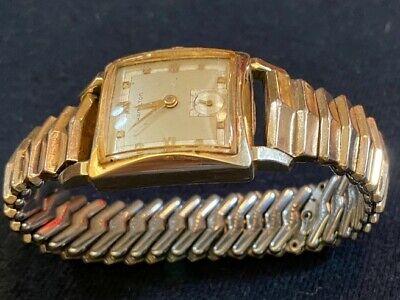 VINTAGE Hamilton Men's watch 10 kt GOLD / Kreisler Band 12 Kt filled 1940s Runs