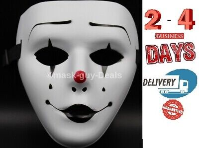 Adult Cat Mask ( Clown Mask Adult Mens Guy Fawkes Anonymous Occupy Halloween Ghost dance)