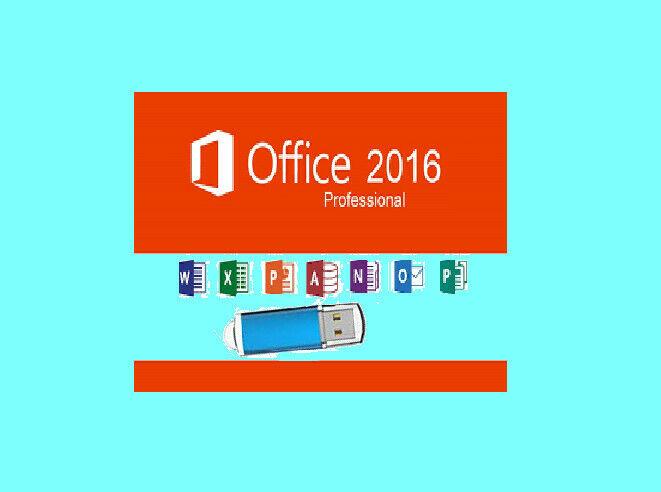 Microsoft Office 2016 Professional on USB Full Version 2 PC