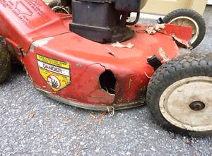 Looking for broken lawnmower