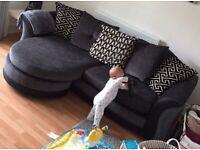 5 seater grey sofa