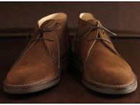 Mens Loake SAHARA Classic Desert Boots with rubber sole in navy,brown, Tan Sahara suede Many sizes