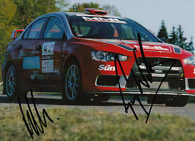 Guy Wilks and Phil Pugh Hand Signed Mitsubishi Photo 7x5.
