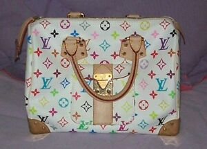 Louis Vuitton White Monogram Speedy 30 Purse/Handbag for sale
