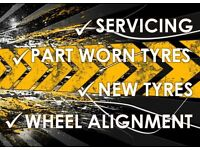 PART WORN TYRES, WESTON SUPERMARE, SAMS TYRES