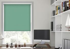 TWO Brand new, turquoise, blackout roller blinds - £20 each
