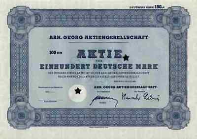 Arn. Georg Neuwied AGO Gruppe Brandenburg Juli 1965 Blankette 100 DM