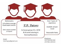 MATHEMATICS TUITION - ALL LEVELS! -- Private in-house group tutoring - - Reasonable rates
