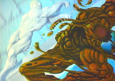 SPIDER-MAN 1995 FLEER HOLOBLAST INSERT CARD 1 OF 6 SPIDER-MAN VS CARNAGE MA