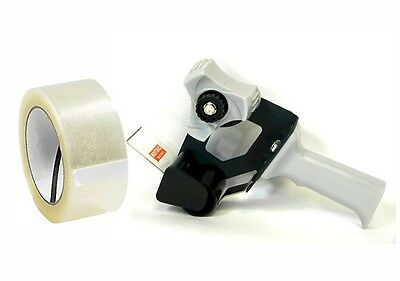 Tape Gun Dispenser W 2 Roll Of Clear Packing Tape - Heavy Duty Construction